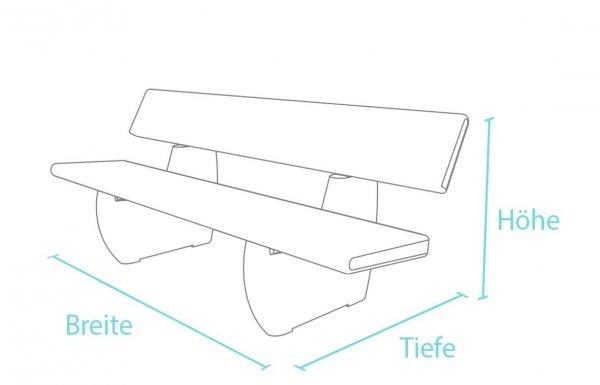 Kunststoff-Kunststoffbank Treptow mit Lehne