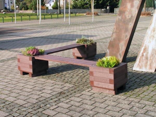 Kunststoff-Kunststoffbank Iona ohne Lehne