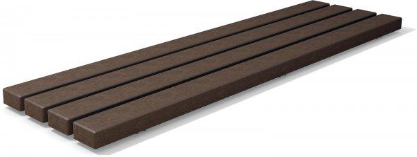 Kunststoff Bankbohlenelement Klassik Stärke 6 cm