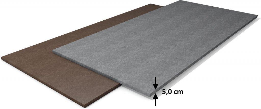Kunststoff Standardplatte Stärke 5 cm