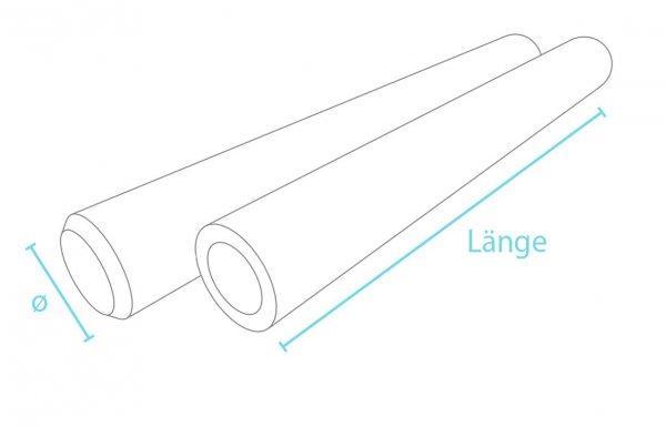 Kunststoff-Kunststoff Rundpalisaden ohne Spitze