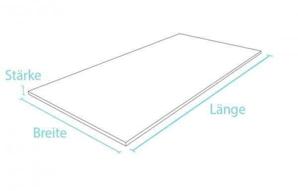 Kunststoff-Kunststoff Standardplatte Stärke 2,5 cm