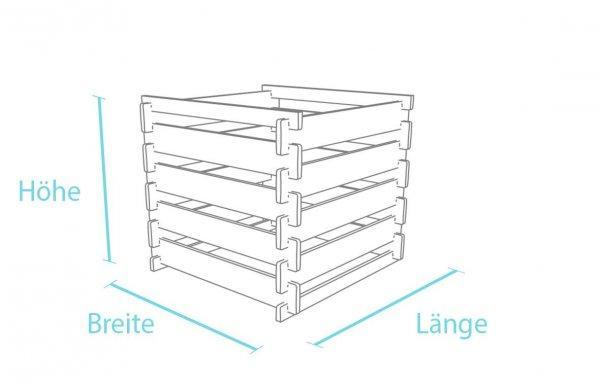 Kunststoff-Kunststoff Steckkomposter