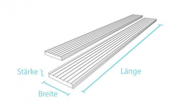 Kunststoff-Kunststoff Terrassendiele