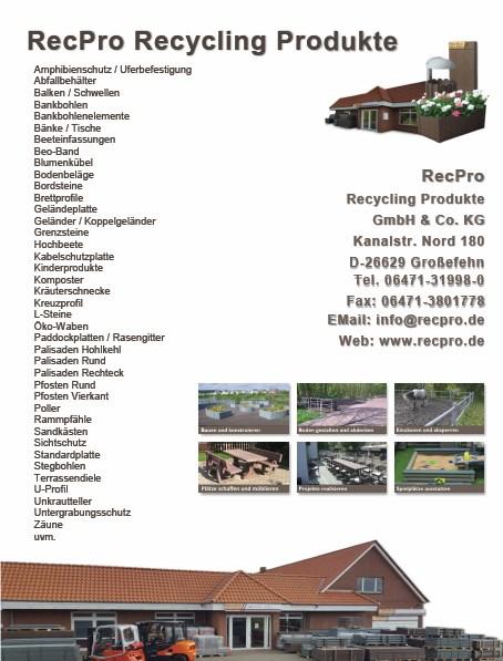 RecPro Recylingkunststoff Produktkatalog Auszug