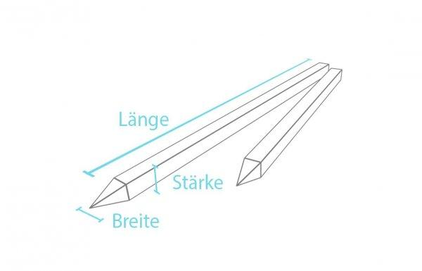 Kunststoff-Kunststoff Vierkantpfosten / Pfähle mit Spitze