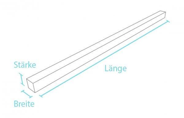 Kunststoff-Kunststoff Vierkantprofil ohne Spitze